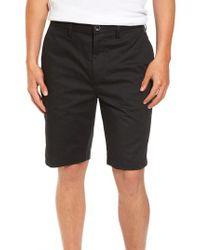 Billabong - Black Carter Stretch Twill Shorts for Men - Lyst