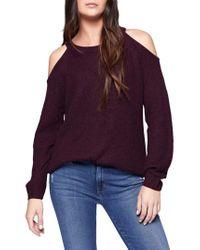 Sanctuary   Purple Riley Cold Shoulder Sweater   Lyst