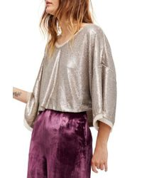 Free People - Multicolor Champagne Dreams Sequin Blouse - Lyst