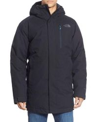 The North Face - Blue 'mount Elbert' Hooded Waterproof Parka for Men - Lyst