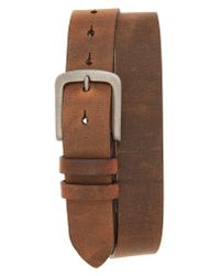 Torino Leather Company - Brown Distressed Waxed Harness Leather Belt for Men - Lyst