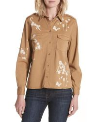RED Valentino - Natural Monkey Print Safari Shirt - Lyst