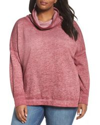 Caslon - Pink Caslon Pleat Back Sweatshirt - Lyst
