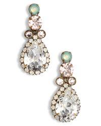 Sorrelli - Metallic Brugmansia Crystal Drop Earrings - Lyst