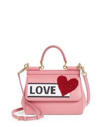 f5d72b5676 Dolce   Gabbana. Women s Small Miss Sicily - Love Leather Satchel