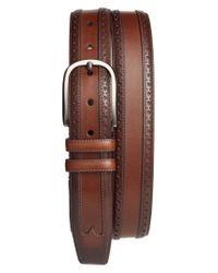 Mezlan - Brown Leather Belt for Men - Lyst