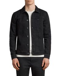 AllSaints - Black Bajio Denim Jacket for Men - Lyst