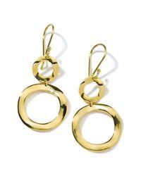 Ippolita Metallic 'plain - Mini Snowman' 18k Gold Drop Earrings