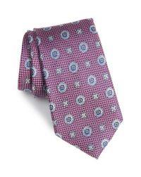 Nordstrom - Purple Rurwin Medallion Tie for Men - Lyst