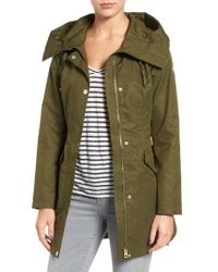 Guess | Green Lace-up Hooded Utility Coat | Lyst
