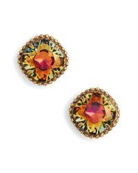 Sorrelli - Multicolor Cushion Cut Solitaire Stud Earrings - Lyst