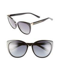 Jimmy Choo - Black 'danas' 56mm Cat Eye Sunglasses - Lyst