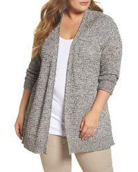 Caslon - Gray Caslon Easy Knit Cardigan - Lyst