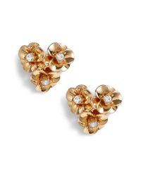 Kate Spade - Metallic Shine On Flower Cluster Stud Earrings - Lyst