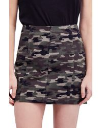 Free People Green We The Free By Modern Femme Camo Skirt