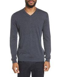 Ted Baker - Gray V-neck Sweater for Men - Lyst