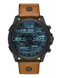 DIESEL - Black Diesel Full Guard Touchscreen Leather Strap Smartwatch for Men - Lyst
