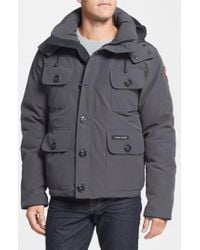 Canada Goose - Gray 'selkirk' Slim Fit Water Resistant Down Parka With Detachable Hood for Men - Lyst