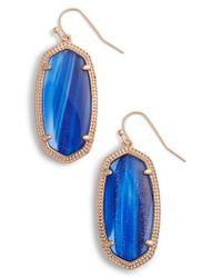 Kendra Scott - Blue Elle Drop Earrings - Lyst
