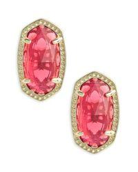 Kendra Scott - Pink Ellie Birthstone Stud Earrings - Lyst