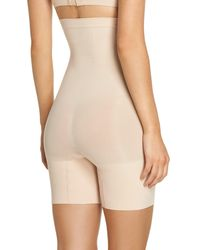 Spanx - Natural Spanx Higher Power Mid-thigh Shaping Shorts - Lyst