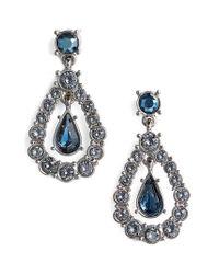 St. John | Blue Swarovski Crystal Drop Earrings | Lyst