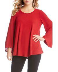 Karen Kane | Red Bell Sleeve Swing Sweater | Lyst