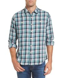 Grayers - Blue Trevor Modern Fit Slub Twill Sport Shirt for Men - Lyst
