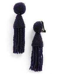 Oscar de la Renta - Multicolor 'classic Short' Tassel Drop Earrings - Lyst