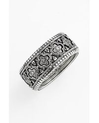 Konstantino - Metallic 'classics' Clover Etched Ring for Men - Lyst