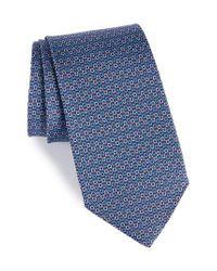 Ferragamo - Blue Elisir Print Silk Tie for Men - Lyst