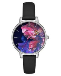 Ted Baker | Metallic Kate Leather Strap Watch | Lyst
