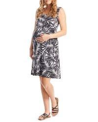 Everly Grey - Multicolor 'tania' Sleeveless Maternity/nursing Wrap Dress - Lyst