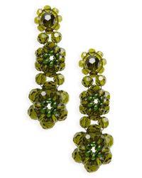 Simone Rocha - Green Tiered Crystal Drop Earrings - Lyst