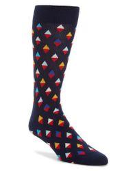 Happy Socks | Blue Diamond Socks | Lyst