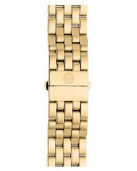 Michele - Metallic Urban Mini 16mm Gold Plated Bracelet Watchband - Lyst