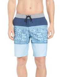 Quiksilver - Blue Liberty Triblock Board Shorts for Men - Lyst
