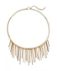 Jenny Packham - Metallic Fringe Frontal Necklace - Lyst