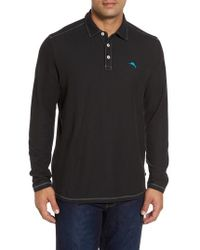 Tommy Bahama | Black Tropicool Spectator Pique Polo for Men | Lyst