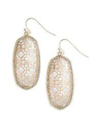 Kendra Scott   Metallic Elle Openwork Drop Earrings   Lyst