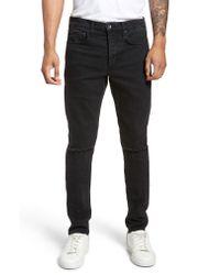Rag & Bone Black Fit 1 Skinny Fit Jeans for men