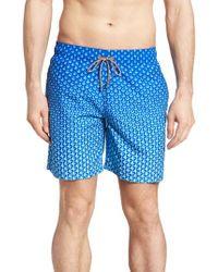 07d2f6ae2e Lyst - Bugatchi Swim Trunks in Blue for Men