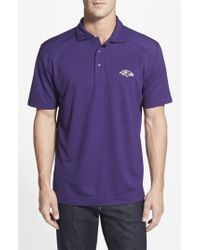 Cutter & Buck - Purple 'baltimore Ravens - Genre' Drytec Moisture Wicking Polo for Men - Lyst