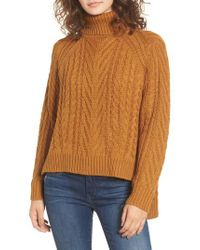 Dreamers By Debut - Multicolor Cable Knit Turtleneck Sweater - Lyst