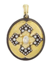 Armenta - Metallic Old World Diamond Pendant - Lyst