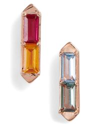 Nadri - Metallic Prism Stud Earrings - Lyst