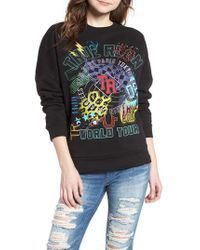 True Religion - Black Embroidered Sweatshirt - Lyst