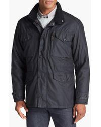 Barbour - Black 'sapper' Weatherproof Waxed Relaxed Fit Jacket for Men - Lyst