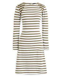 J.Crew - White 365 Stripe Knit Fit & Flare Dress (regular, Petite & Plus Size) - Lyst