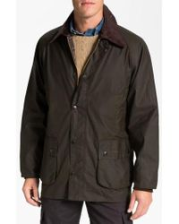 Barbour - Green 'bedale' Relaxed Fit Waterproof Waxed Cotton Jacket for Men - Lyst
